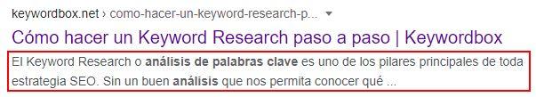 description ejemplo